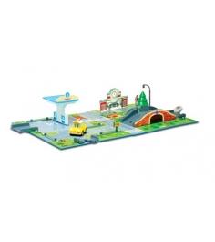 Набор «Город» почта с мостом (1 металлическая машинка в комплекте) 83248 Робокар Поли