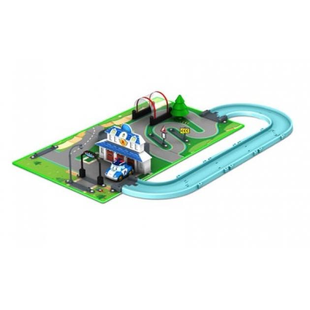 Набор «Город» Штабквартира (металлическая машинка Поли в комплекте) 83280 Робокар Поли