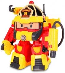 Рой трансформер 10 см с костюмом супер пожарного Robocar Poli 83314