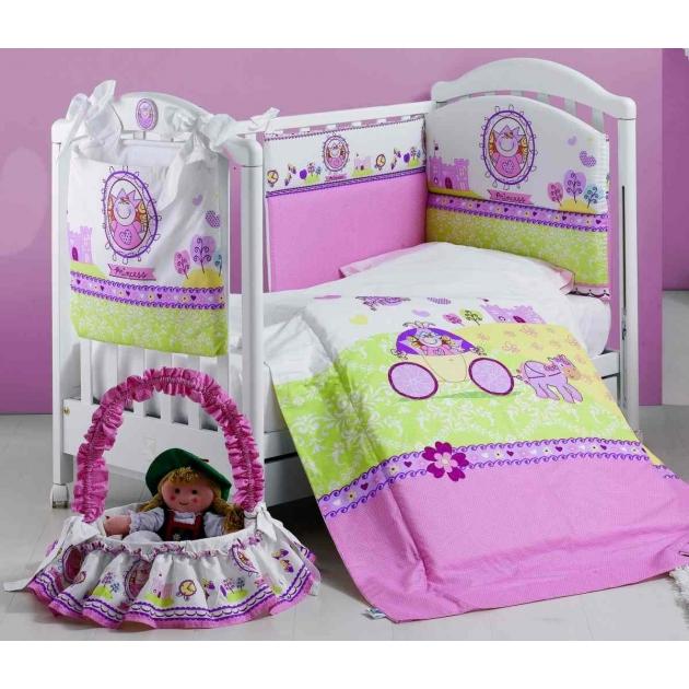 Комплект в кроватку 5 предметов Roman Baby Principessa 5701