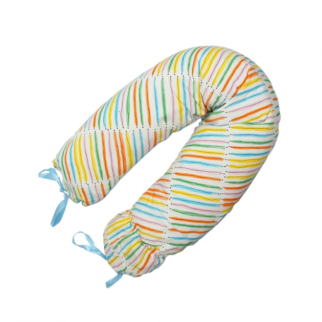 Подушка для беременных Roxy Mama's Helper Премиум Радуга кармашек и завязки ART0131