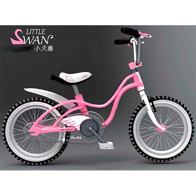 Двухколесный велосипед Royal Baby Little Swan Steel 5-9 лет RB18-18
