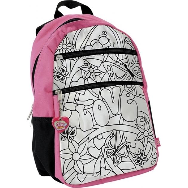 Рюкзак для девочки Color Me Mine Violetta и 5 маркеров для его раскрашивания 6375173