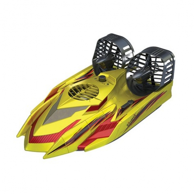 Радиоуправляемая машина Silverlit Амфибия Hover Racer Ховер Рэйсер для игры на земле и воде 82014