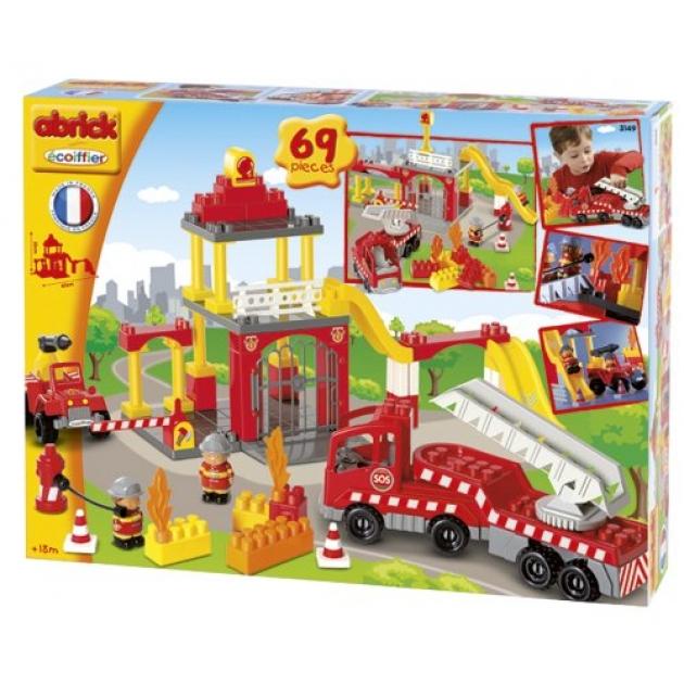 Конструктор Ecoiffier пожарная станция и машина Abrick 3149
