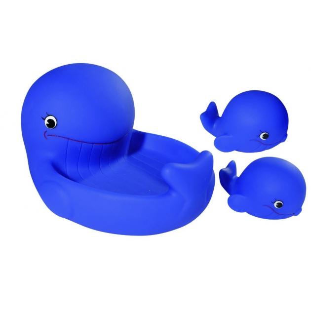 Животные для купания Simba Кит синий с китятами в наборе 4015477