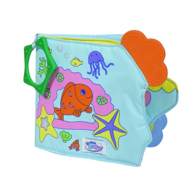 Мягкая книжка для купания Simba ABC с прорезывателями и пищалками 4017214