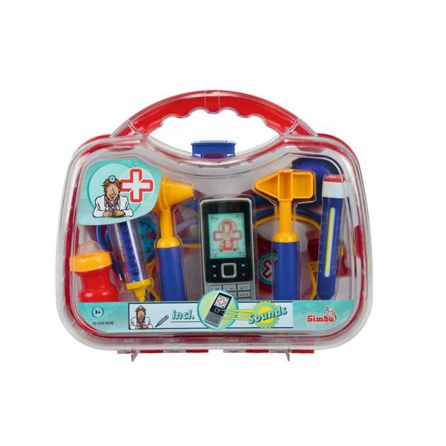 Игрушки больница Набор доктора в пластиковом чемодане Simba 5540698