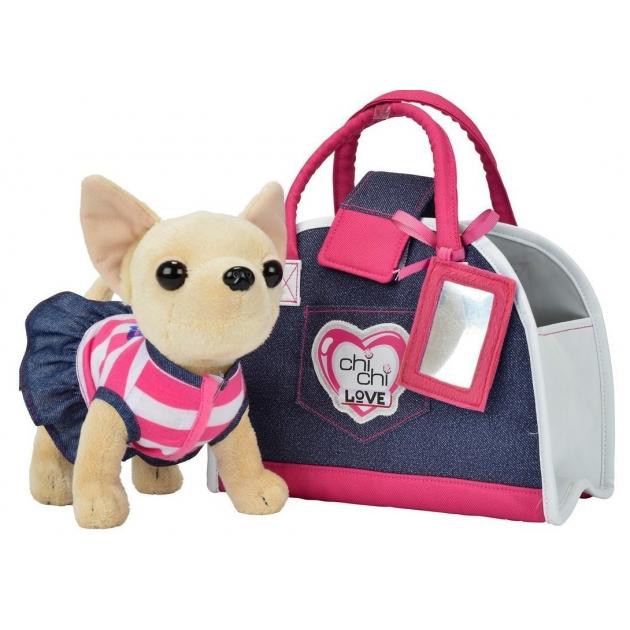 Мягкая игрушка Simba Chi Chi Love Джинсовый стиль с сумкой 5890599