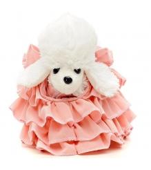 Белый пудель Chi Chi Love в розовом платье в комплекте с клатчем 5891587...