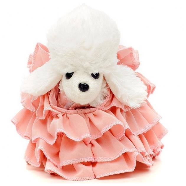 Белый пудель Chi Chi Love в розовом платье в комплекте с клатчем 5891587