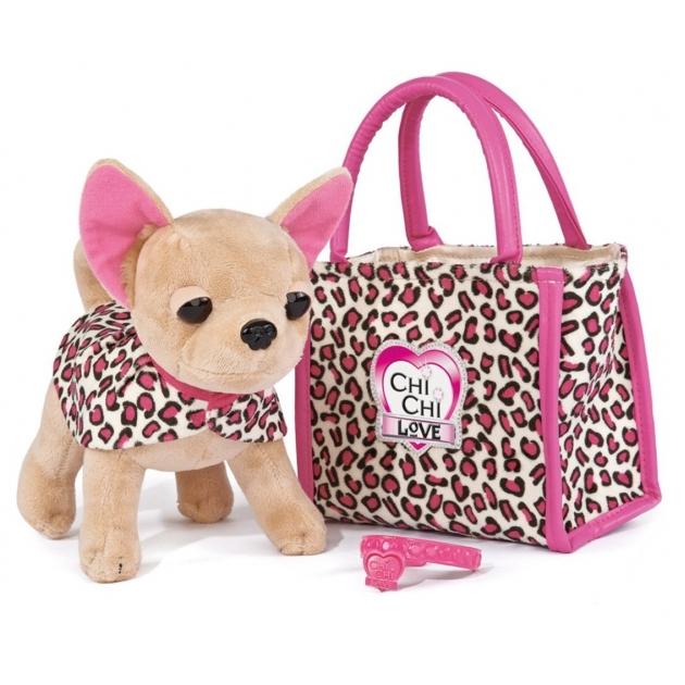 Собачка Chi Chi Love Лео с сумочкой и ошейником 5892281