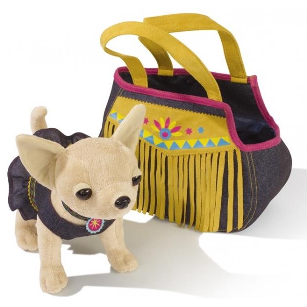 Собачка Chi Chi Love Индийское лето в платье и джинсовой сумочке 5895102