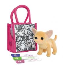 Собачка Chi Chi Love Чихуахуа с сумочкой для раскрашивания и 3 фломастера 589526...