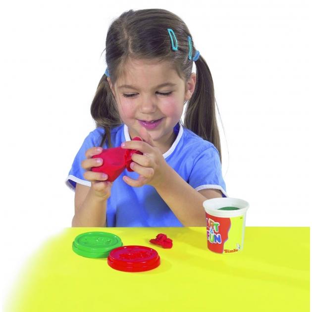 Набор пластилина Simba Art Fun из 5 цветов в баночках 6322899