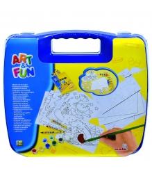 Набор для творчества Simba Art Fun в синем чемоданчике 6330639
