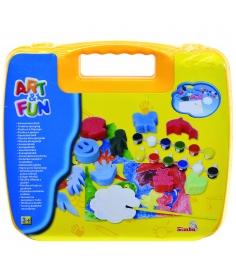 Набор для творчества Simba Art Fun в желтом чемода...