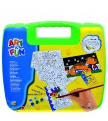 Набор для творчества Simba Art Fun в зеленом чемоданчике 6330639