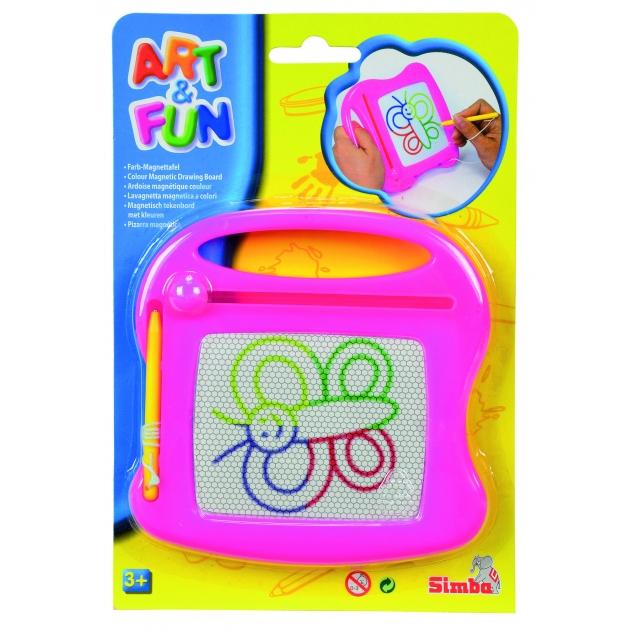 Доска для рисования Simba Art Fun розовая 6334984