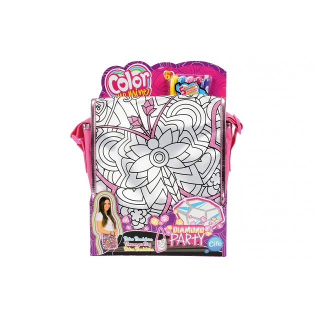Детская сумка раскраска Color Me Mine Алмазный блеск 5 перманентных маркеров 6372205