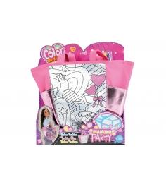 Детская сумка раскраска Color Me Mine Алмазный блеск 5 перманентных маркеров 6372377