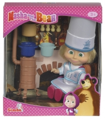 Кукла Simba Маша в одежде повара с аксессуарами 9301987
