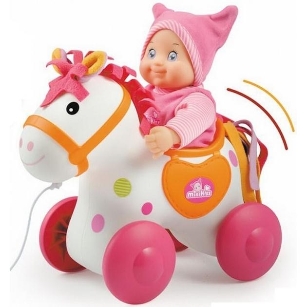 Детская каталка для пупса Smoby Mini Kiss Лошадка 160158
