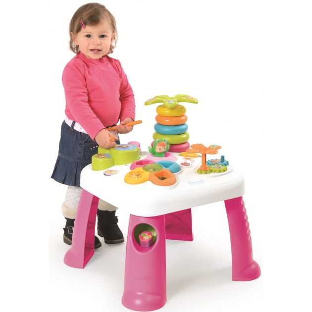 Игровой развивающий центр Smoby Cotoons столик розовый 211067