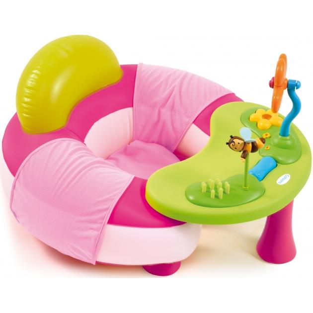 Игровой развивающий надувной центр Smoby розовый 211206