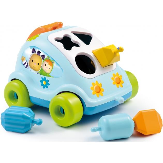 Пластиковый сортер Smoby Автомобиль с фигурками голубой 211323
