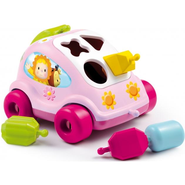 Пластиковый сортер Smoby  Автомобиль с фигурками розовый 211323 (211118)