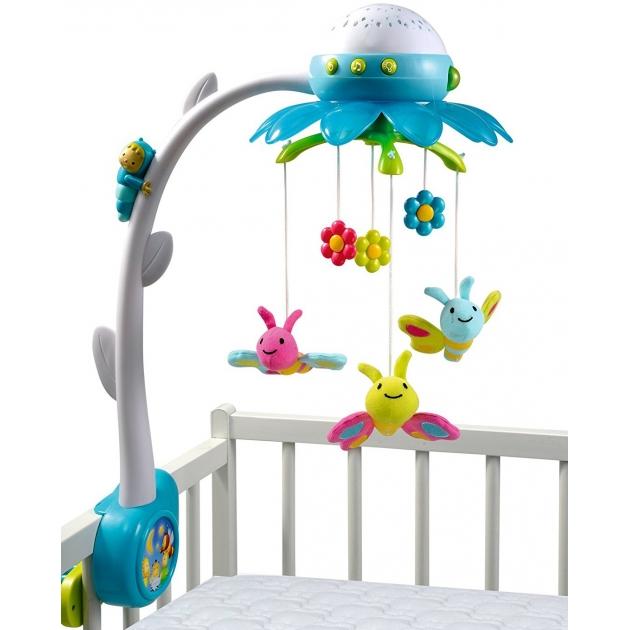 Музыкальный мобиль на кроватку Smoby Цветок Голубой 211407