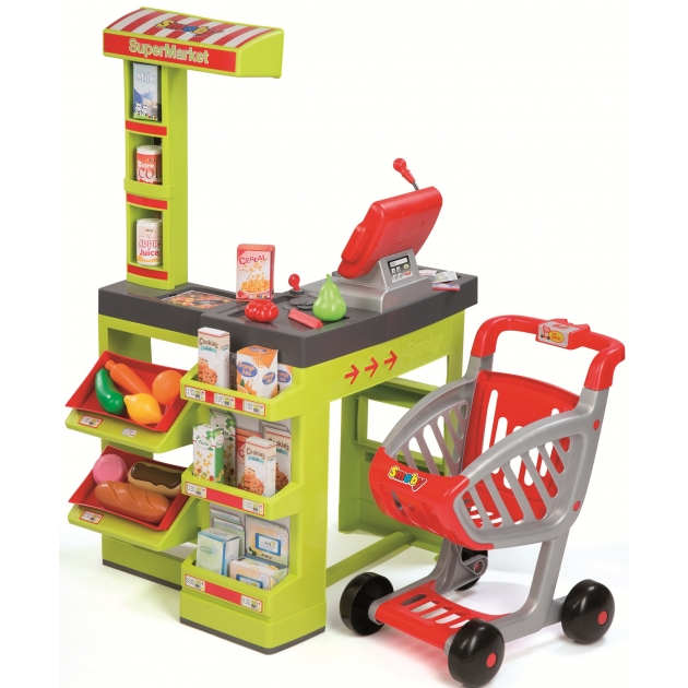 Игрушка для супермаркета Smoby Супермаркет с тележкой 350202