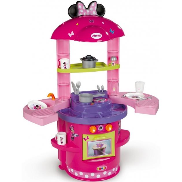 Детская кухня Smoby Моя первая кухня Minnie Mouse 24068
