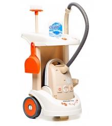 Игрушка для уборки Тележка для уборки с пылесосом Smoby 24613...