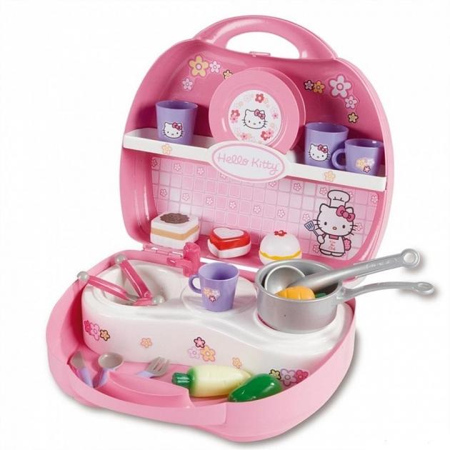 Детская кухня Smoby Hello Kitty Мини в чемоданчике 24782