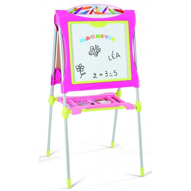 Детский мольберт Smoby двухсторонний розовый 28064