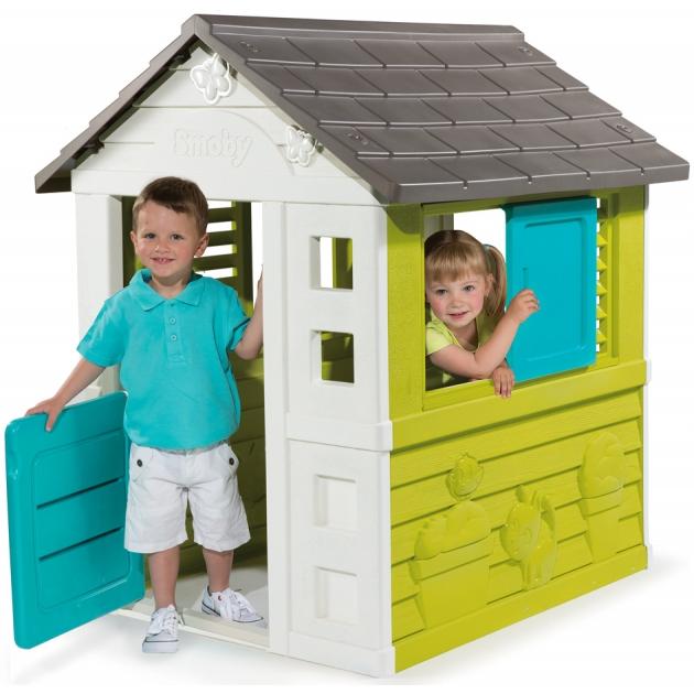 Детский домик Smoby BG с дверью и окном 310064