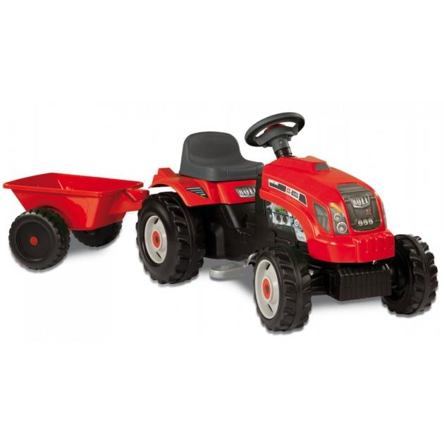 Трактор педальный Smoby GM Bull + Remorgue Rouge 33045