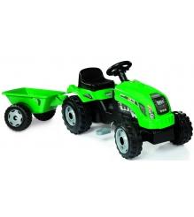 Трактор педальный Smoby со звуковыми эффектами и прицепом GM Bull 33329...