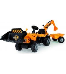 Трактор педальный Smoby с ковшом и прицепом 33389...