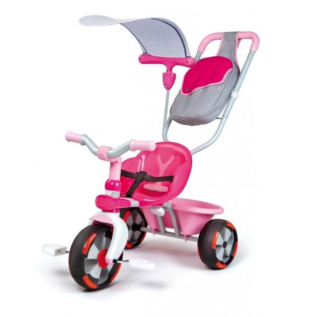 Трехколесный детский велосипед Smoby Baby Draiver Confort розовый 434116