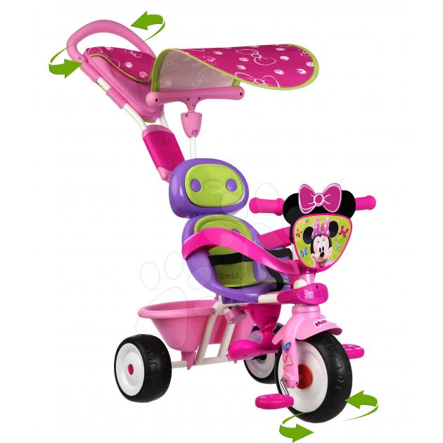 Трехколесный детский велосипед Smoby Baby driver Minnie 434206