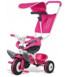 Трехколесный детский велосипед Smoby Baby Balade Pink 444207...