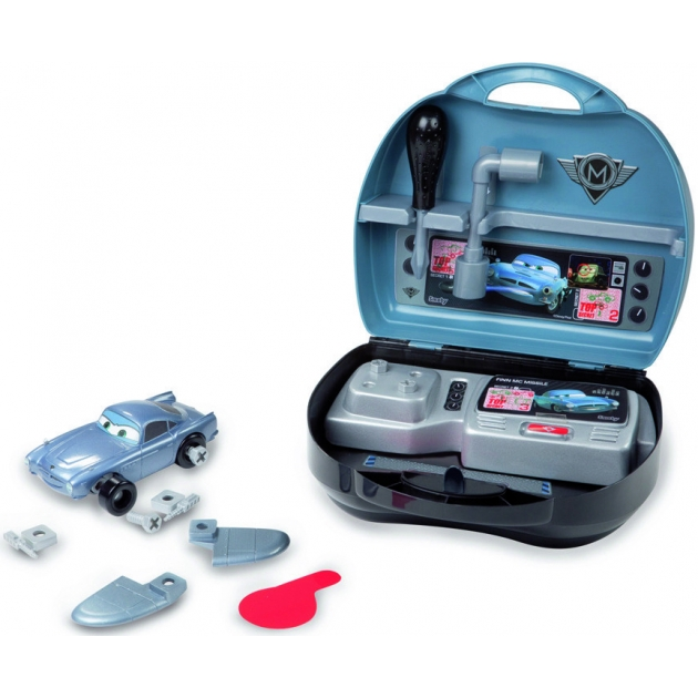 Машинка с конструктором Smoby в чемоданчике Финн Тачки 2 500166