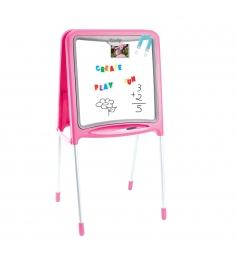 Детский мольберт двухсторонний складывающийся Розовый Smoby 28109