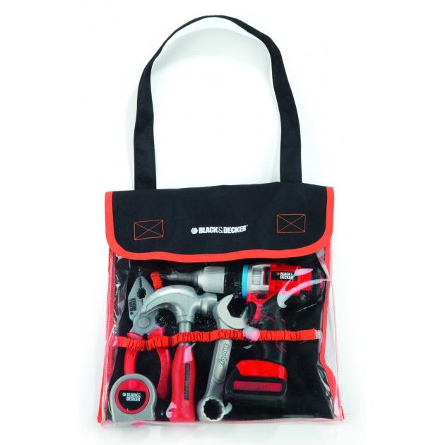 Набор инструментов в сумке Black Decker и дрель Smoby 500281