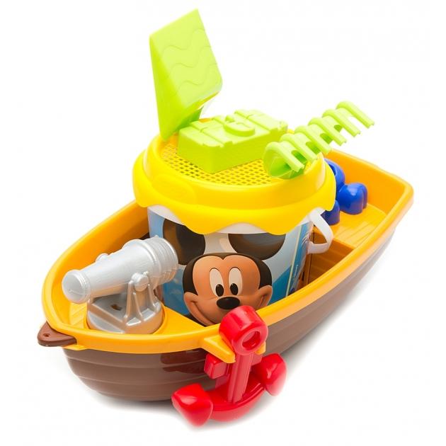 Набор для игры в песочнице Smoby Микки Маус с лодкой 69407