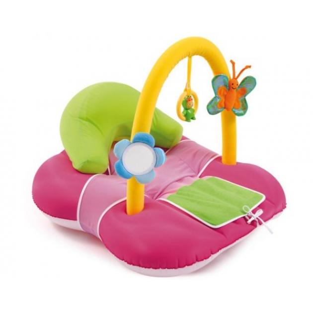 Развивающий коврик надувной Розовый Smoby 211279