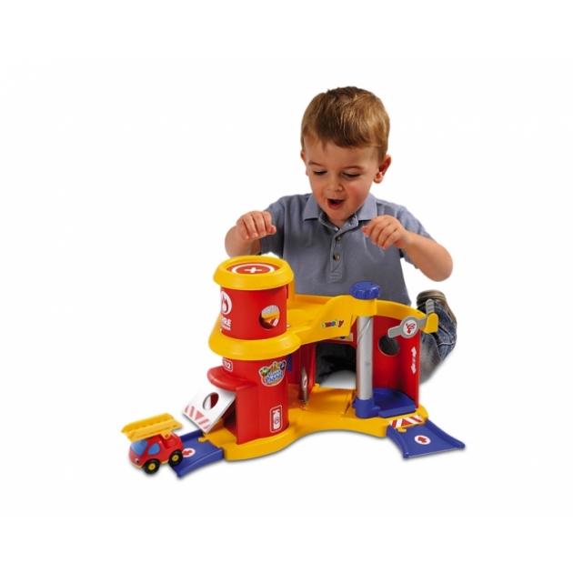 Игровой набор для машинок трек пожарная станция Smoby 211142